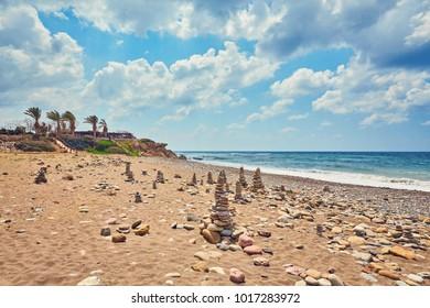 A view of a Lara beach near Paphos, Cyprus