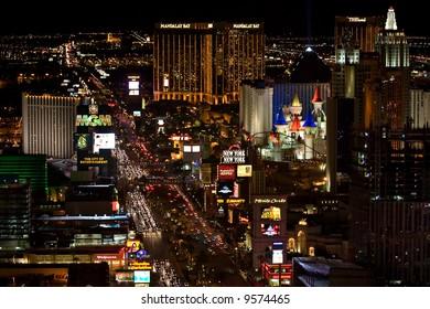 View of Las Vegas Strip at night
