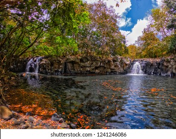 View of 'Lasavanne' waterfalls (Cascade Lasavanne) located in the south of Mauritius island