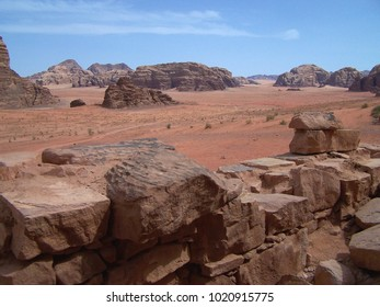 View from Lawrence of Arabia's House in the Wadi Rum - Jordan