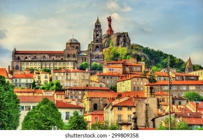 View of Le Puy-en-Velay, a town in Haute-Loire, France