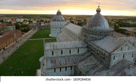 view from The Leaning Tower of Pisa in Italy
