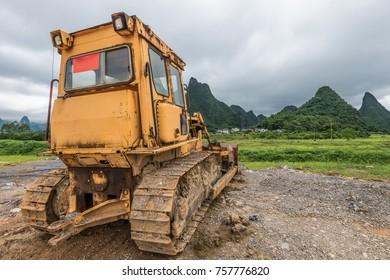 view of leave unused bulldozer