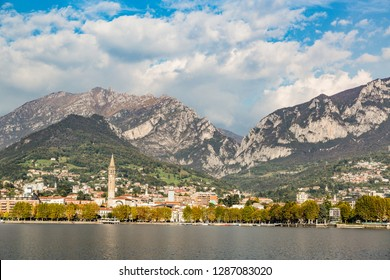 View of Lecco from Malgrate, the village opposite