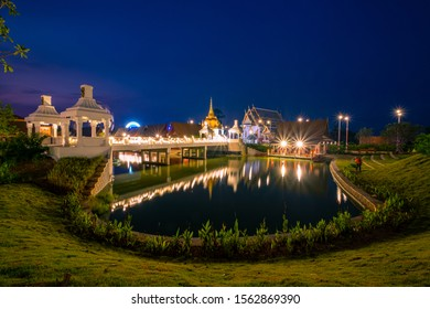 View of Legend Siam located in Pattaya with twilight sky, Pattaya Thailand. Legend Siam is new landmrak of Pattaya.
