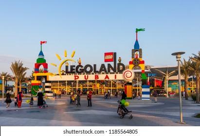 View of Legoland Dubai. Dubai - UAE. 17 November 2017