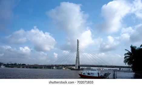 A view of the Lekki-Ikoyi Link bridge