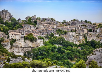 View of Les Baux-de-Provence, Provence, France