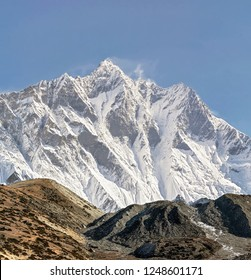 View of the Lhotse peak (8516 m) - Everest region, Nepal, Himalayas