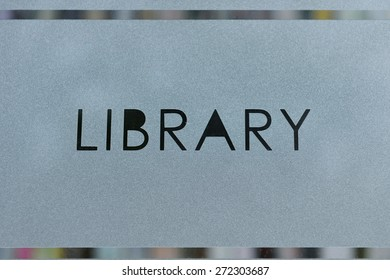 View of a Library Sign