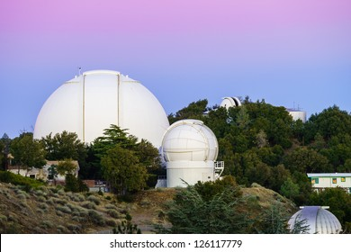 View of Lick Observatory, 120 inch telescope in California.