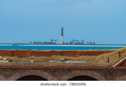 A view of the light house on a distant island in the Dry Tortugas.