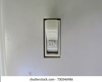 View of light switch on wall