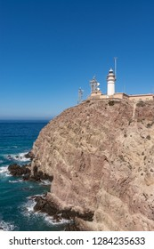 view of the lighthouse of cabo de gata
