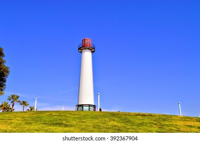 View of the lighthouse at Long Beach, CA.