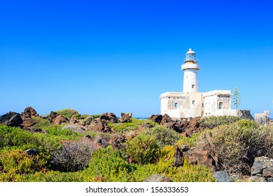 View of Lighthouse in the Pantelleria island, Sicily