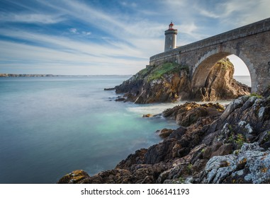 View of Lighthouse of Petit Minou in Brittany in France