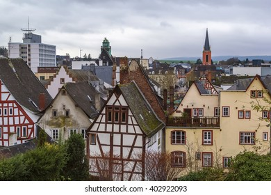 view of Limburg from cathedral hill, Germany