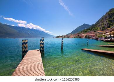 View of Limone sul Garda in Lake Garda, Italy
