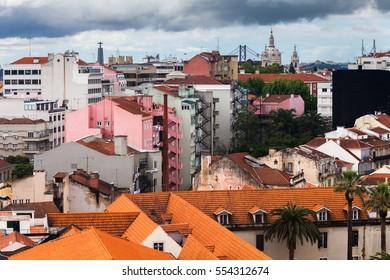 A view to Lisbon city
