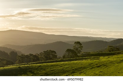 View from Lithgow contryside town in NSW Australia