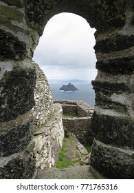 "View of the Little Skellig from Skellig Michael, IRELAND's World Heritage, also know as the ""Star Wars"" Island"
