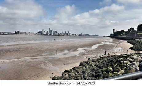 view of Liverpool from The Wirral