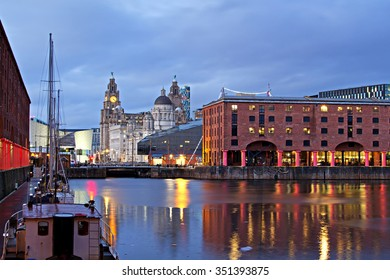 View of Liverpool's Historic Waterfront Taken From Albert Dock