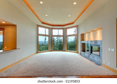 View of living room in luxury house