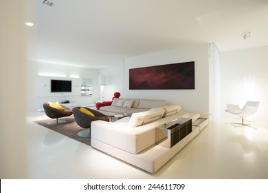 View of living room in pure residence