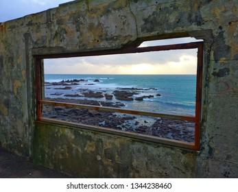 View of Lizzard Point from abandoned building in Cornwall