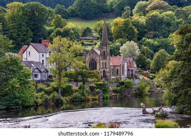 View of Llangollen town in north Wales, UK
