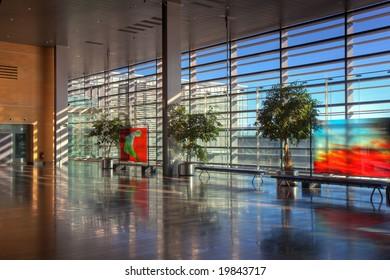 View of the lobby of Arlanda airport, Stockholm.