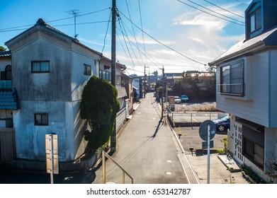 View of local house in Okayama ,Japan.