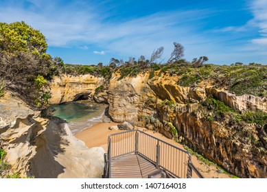 View of the Loch Ard Gorge in Port Campbell, Victoria, Australia