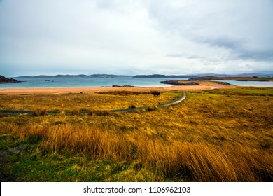 View of Loch Ewe on the west coast of Scotland - the top secret base for the formation of Arctic Convoys to Russian ports including Murmansk in World WarI II.