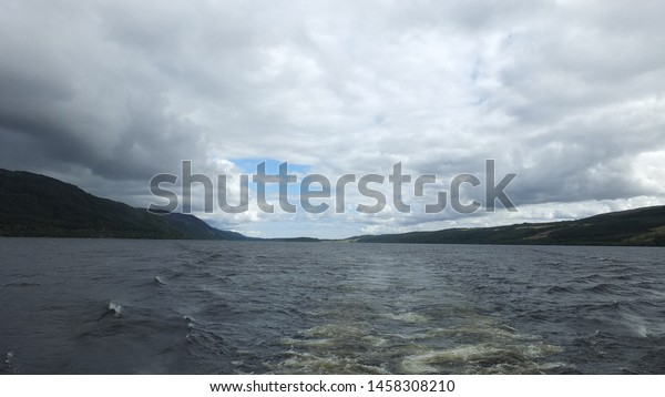 The view of Loch Ness in Scotland.