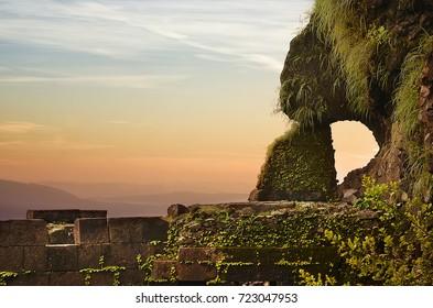 View of Lohagad fort, Lonavala, Maharashtra, India