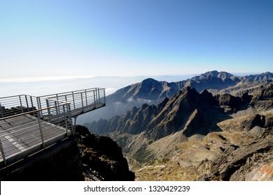 View from Lomnicky peak on High Tatras West Ridge, Slovakia - Shutterstock ID 1320429239