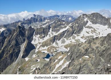View from Lomnicky Stit in High Tatras, Slovakia - Shutterstock ID 1198977250