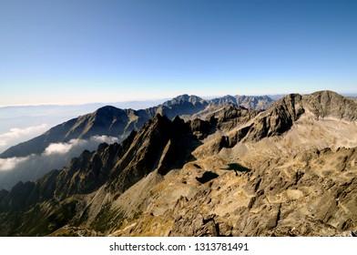 View from Lomnicky stit: High Tatras West Ridge - Shutterstock ID 1313781491