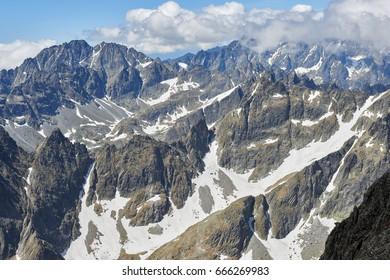 View from Lomnicky Stit in High Tatras, Slovakia - Shutterstock ID 666269983