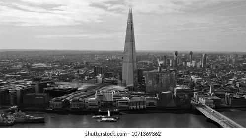 View Of London black and white