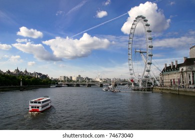 View -  London Eye and  River Thames