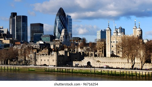 View of London Tower and The Gherkin