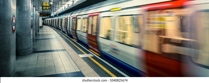 view of London underground, UK.