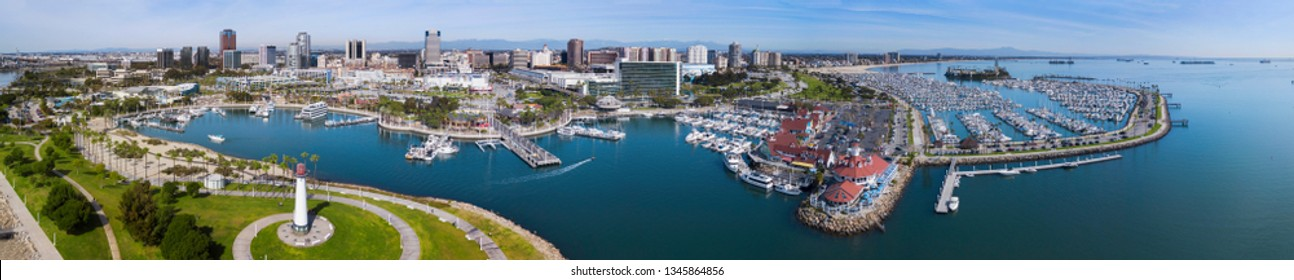 View of Long Beach, California, USA.