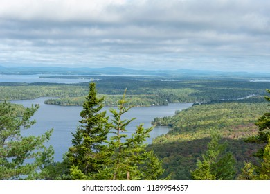 View of Long Pond from Beech Mountain on Mount Desert Island