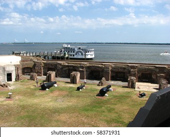 View looking down on Fort Sumter