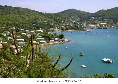 View looking down over the town of Port Elizabeth, Bequia